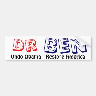 Dr Ben Carson 2016 Bumper Sticker
