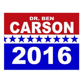 Dr. Ben Carson 2016 Postcard