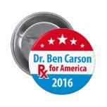 Dr. Ben Carson 2016 - Prescription for America 6 Cm Round Badge