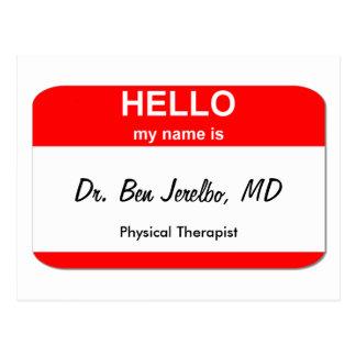 Dr. Ben Jerelbo, MD Postcard