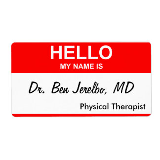 Dr. Ben Jerelbo, MD Shipping Label