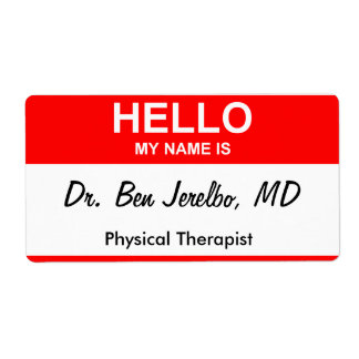Dr. Ben Jerelbo, MD Shipping Label