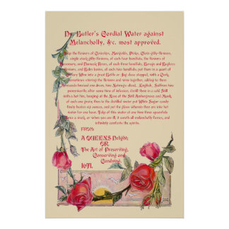 Dr. Butler's Cordial Water against Melancholly Poster