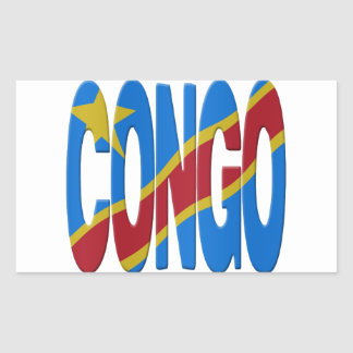 DR Congo flag Rectangular Sticker