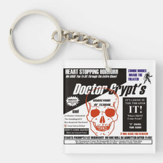 Dr. Crypt's Spook Show Single-Sided Square Acrylic Key Ring