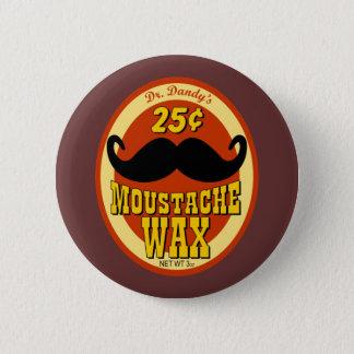 Dr. Dandy's Moustache Wax 6 Cm Round Badge