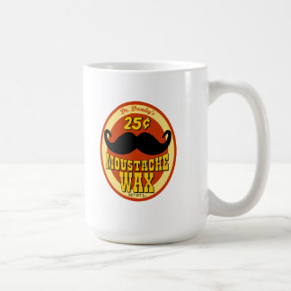 Dr. Dandy's Moustache Wax Classic White Coffee Mug