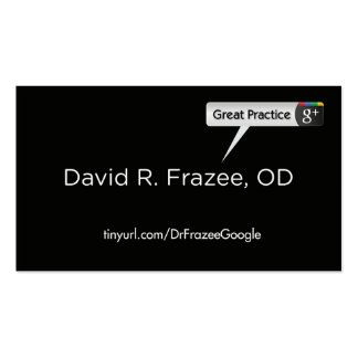 Dr. David Frazee Business Card Templates