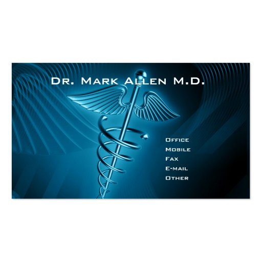 Dr. Doctor Double-Sided Standard Business Cards (Pack Of 100)