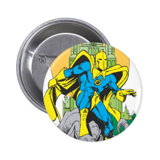 Dr. Fate & Invisible Tower 6 Cm Round Badge