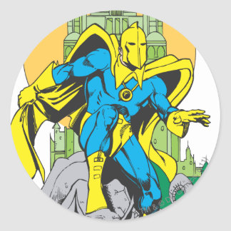 Dr. Fate & Invisible Tower Round Sticker