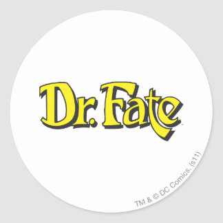 Dr. Fate Logo Round Sticker