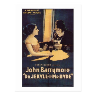 Dr. Jekyll and Mr. Hyde Silent Horror Movie Postcard
