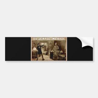 Dr. Jekyll and Mr. Hyde Vintage Illustration 1880s Bumper Sticker