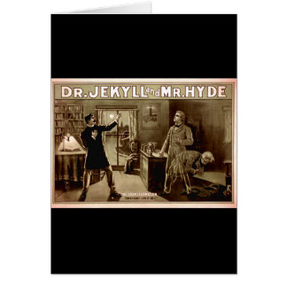 Dr. Jekyll and Mr. Hyde Vintage Illustration 1880s Greeting Card
