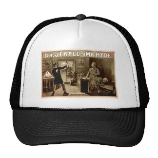 Dr. Jekyll and Mr. Hyde Vintage Illustration 1880s Mesh Hats