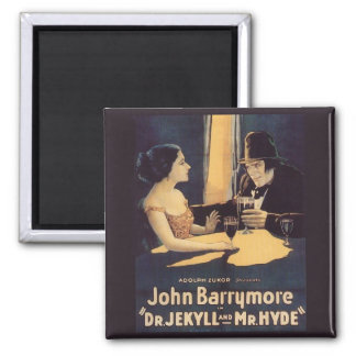 Dr. Jekyll and Mr. Hyde Vintage Movie Poster Square Magnet