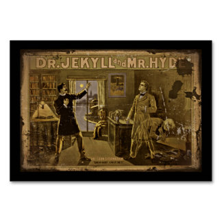 Dr Jekyll and Mr Hyde Vintage Poster Art Card