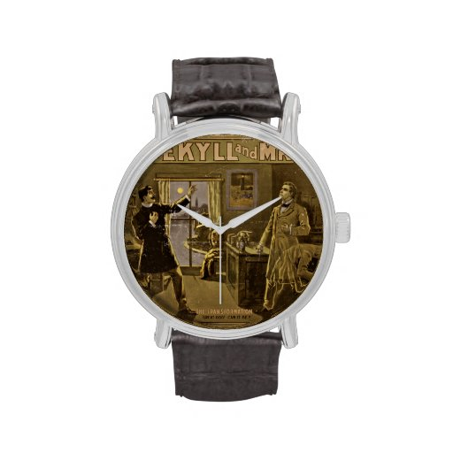 Dr Jekyll and Mr Hyde Vintage Poster Art Wrist Watches