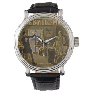 Dr Jekyll and Mr Hyde Vintage Poster Art Wristwatch