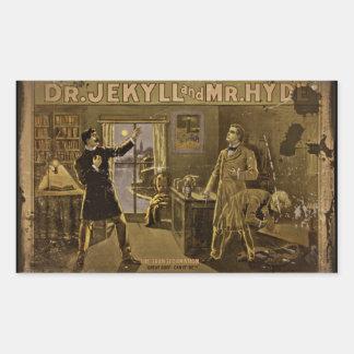Dr Jekyll and Mr Hyde Vintage Poster Rectangular Sticker