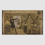 Dr Jekyll and Mr Hyde Vintage Poster Rectangular Stickers
