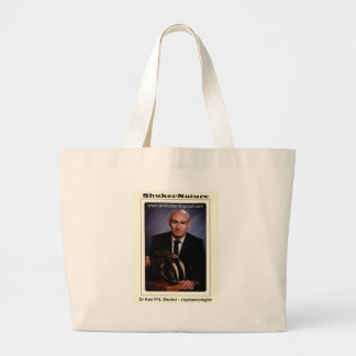 Dr Karl Shuker and Smilodon Skull - ShukerNature Tote Bag