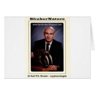 Dr Karl Shuker and Smilodon Skull - ShukerNature Greeting Card