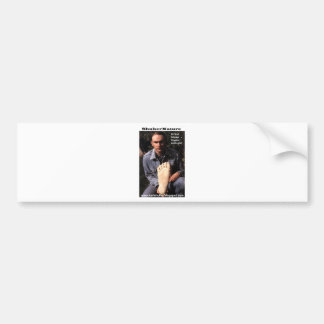 Dr Karl Shuker & bigfoot print cast - ShukerNature Car Bumper Sticker