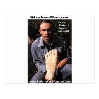 Dr Karl Shuker & bigfoot print cast - ShukerNature Postcard