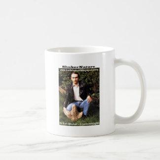 Dr Karl Shuker & dinosaur footprint - ShukerNature Basic White Mug