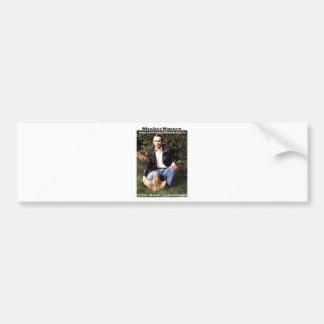 Dr Karl Shuker & dinosaur footprint - ShukerNature Bumper Stickers