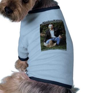 Dr Karl Shuker & dinosaur footprint - ShukerNature Pet Clothing
