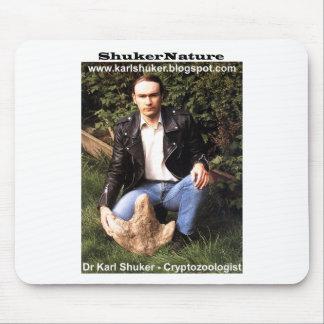 Dr Karl Shuker & dinosaur footprint - ShukerNature Mousepad