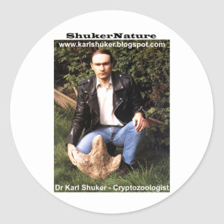 Dr Karl Shuker dinosaur footprint - ShukerNature Stickers