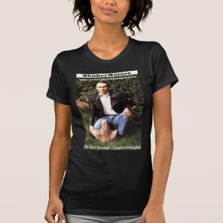 Dr Karl Shuker & dinosaur footprint - ShukerNature T-shirt
