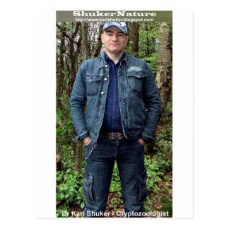 Dr Karl Shuker on Cannock Chase - ShukerNature Postcard