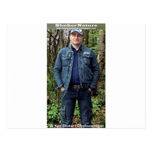 Dr Karl Shuker on Cannock Chase - ShukerNature Postcards