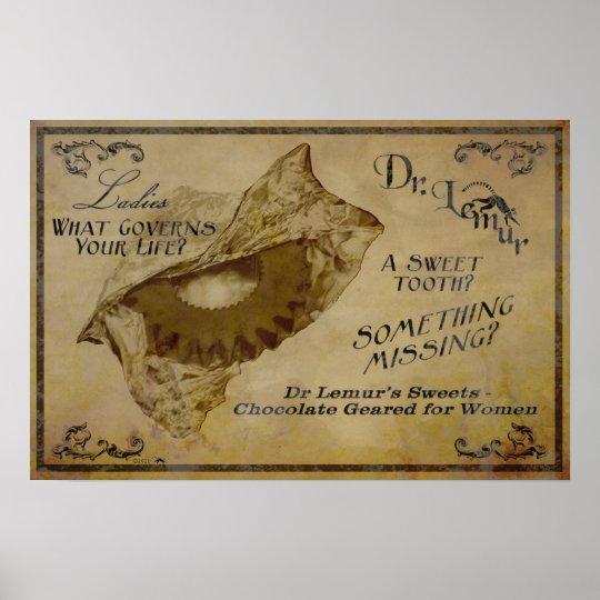Dr. Lemur's Chocolates Poster