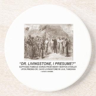 Dr. Livingstone, I Presume? Sandstone Coaster