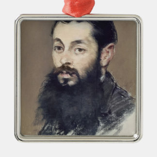 Dr. Materne, doctor of Napoleon III  c.1880-81 Silver-Colored Square Decoration