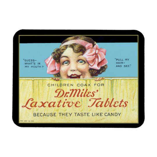 Dr. Miles Laxative Tablets Rectangular Photo Magnet