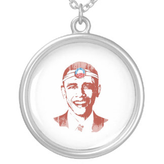 Dr. Obama red Faded.png Necklace