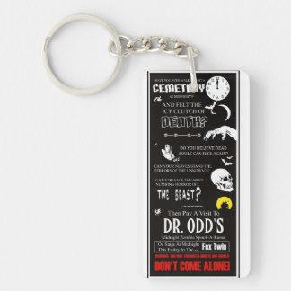 Dr. Odd's Spook Show Single-Sided Rectangular Acrylic Key Ring