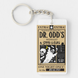 Dr. Odd's Spook Show Single-Sided Rectangular Acrylic Key Ring