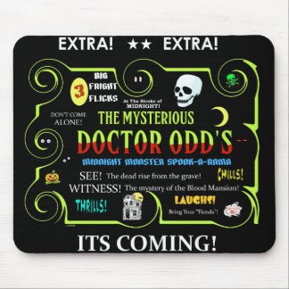 Dr.Odd's Spook Show Teaser Art Mouse Pad