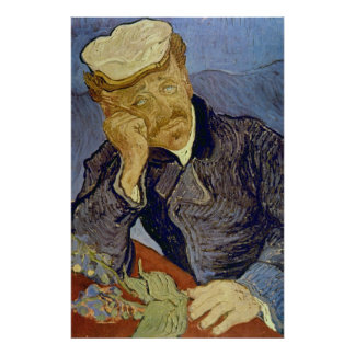 Dr Paul Gachet (2nd version) by Vincent van Gogh Poster