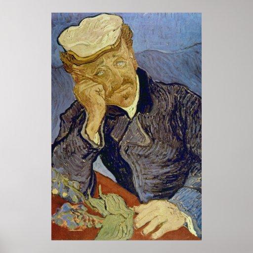 Dr Paul Gachet (2nd version) by Vincent van Gogh Posters