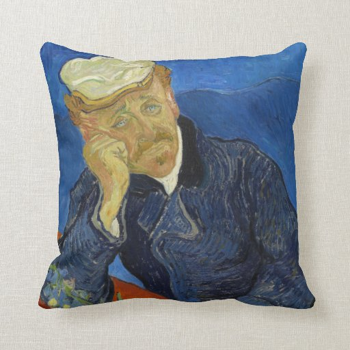 Dr Paul Gachet by Vincent van Gogh 2nd Version Throw Pillow
