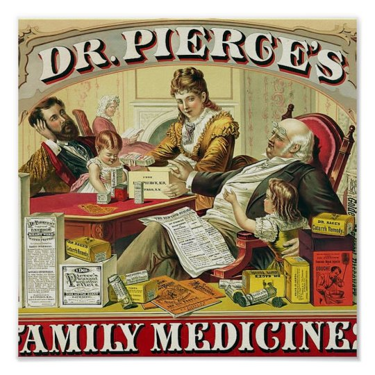 Dr. Peirce's Family Medicines. Poster